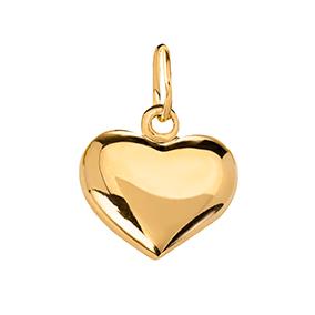 Kultainen sydänriipus 10 mm