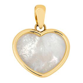 Kultainen sydänriipus, helmiäinen