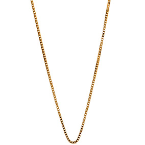 Hopeinen riipusketju, venetsia 0,7 mm, kullattu