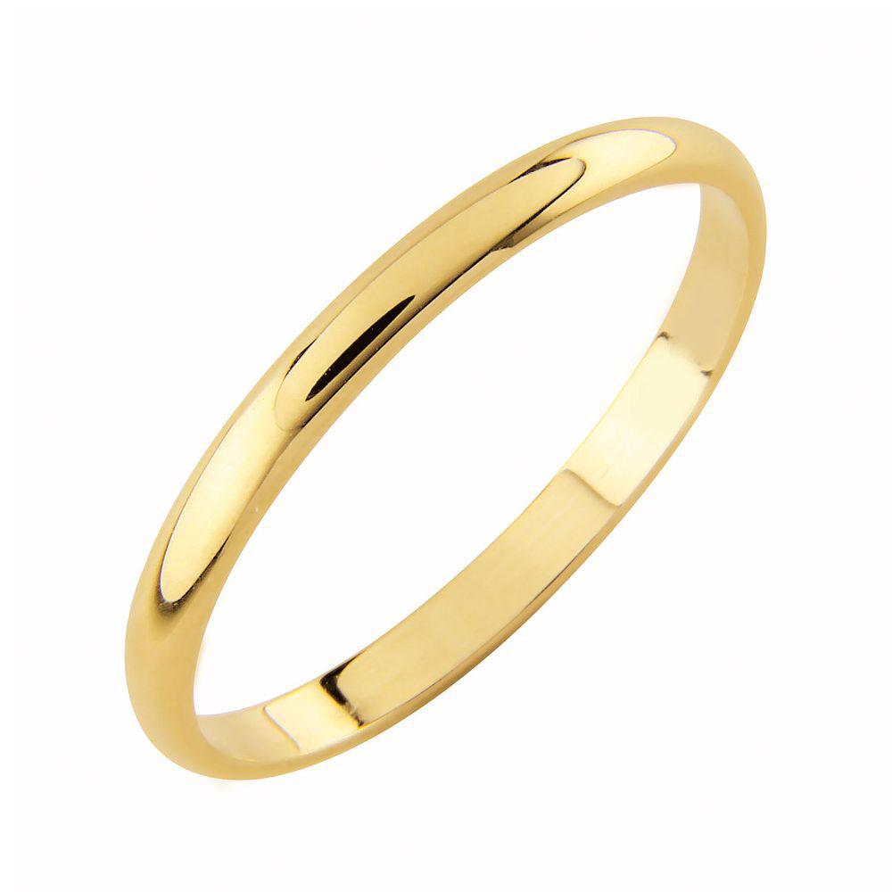AuMore kultainen kihlasormus 2 mm, puolipyöreä