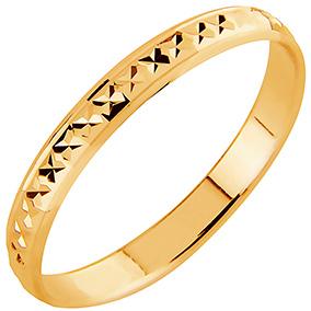 AuMore kultainen kihlasormus 2,7 mm, timanttileikkaus