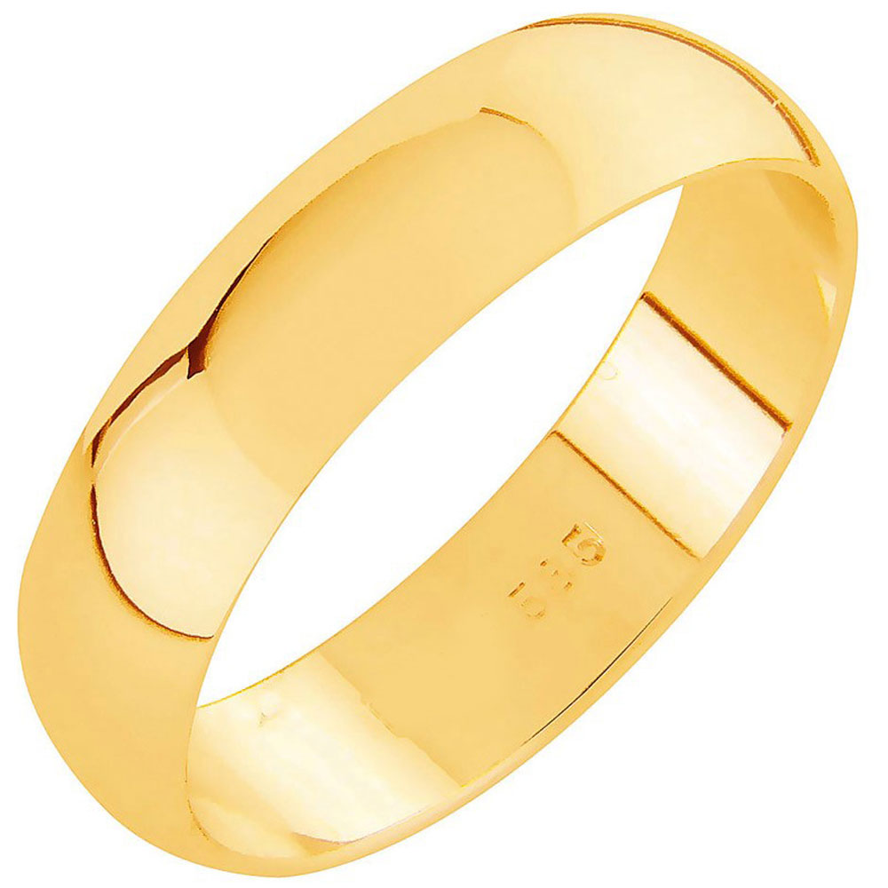 AuMore kultainen kihlasormus 5,5 mm, puolipyöreä