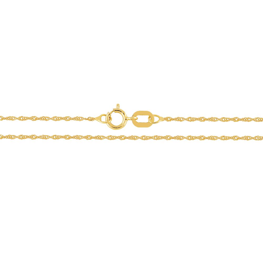Kultainen riipusketju, singapore 0,9 mm