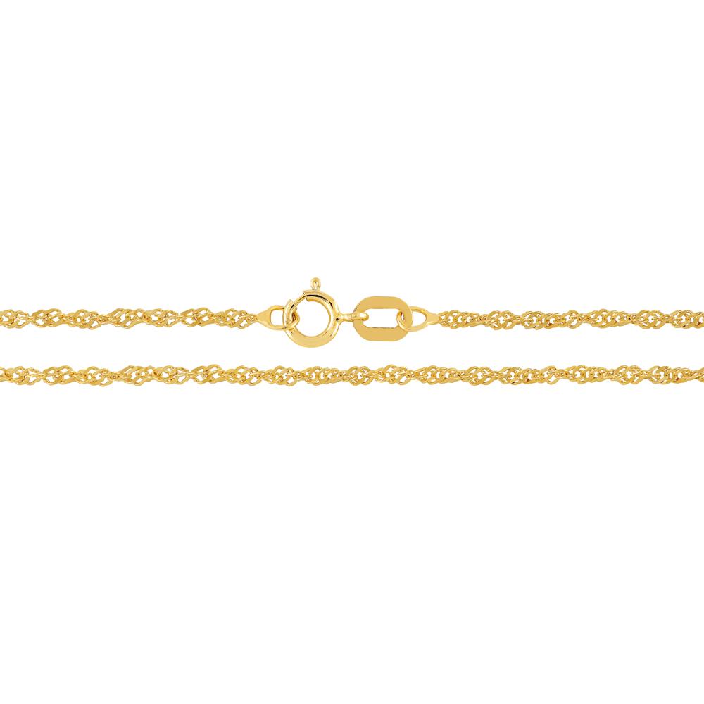 Kultainen riipusketju, singapore 1,3 mm