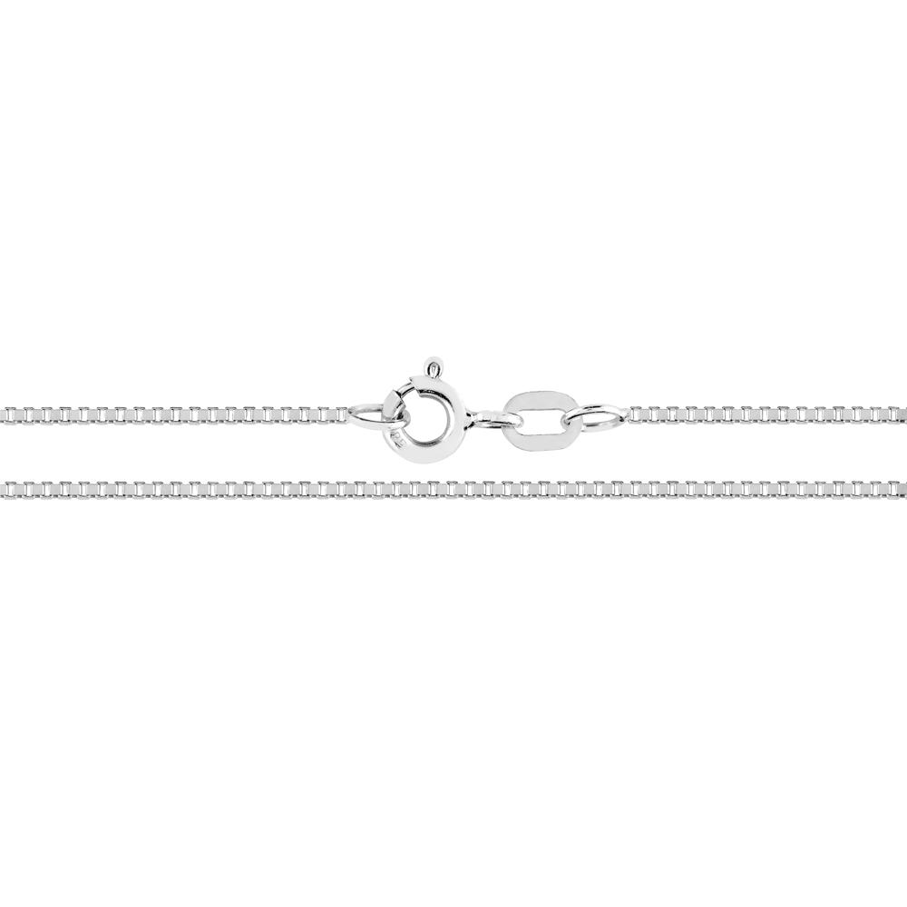 Valkokultainen riipusketju, venetsia 0,9 mm