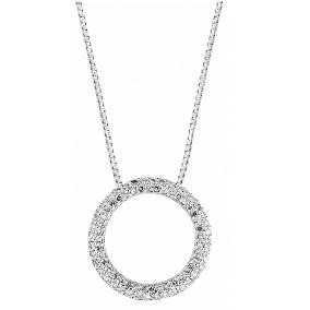 Naisten pyöreä timanttiriipus