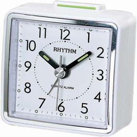 Rhythm valkoinen herätyskello, kantikas