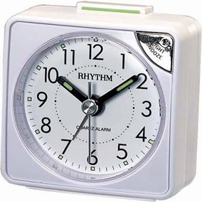 Rhythm valkoinen herätyskello, torkkutoiminnolla