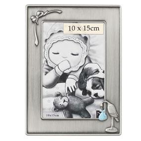Vauvan valokuvakehys, haikara, vaaleansininen