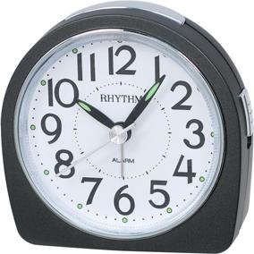 Rhythm musta herätyskello, pyöreä