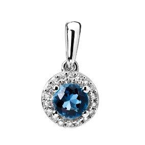 Naisten timantti-topaasiriipus 0,04ct