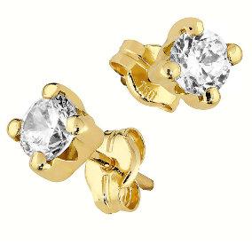 Kultaiset zirkoniakorvakorut