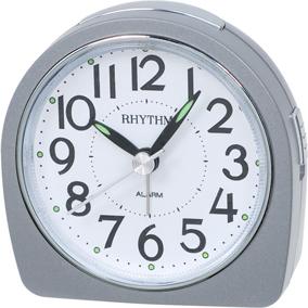 Rhythm hopeanvärinen herätyskello, pyöreä