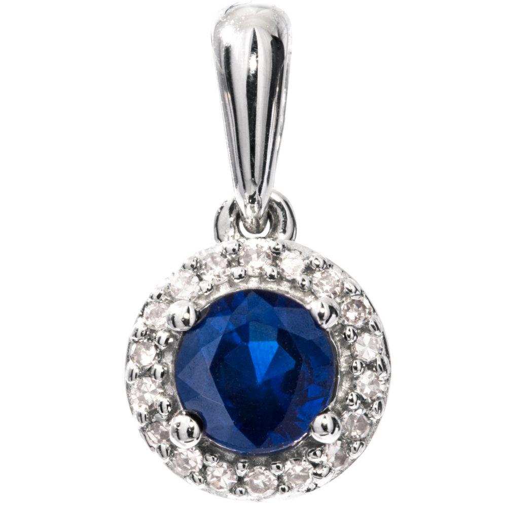 Valkokultainen timantti-safiiririipus 0,04ct
