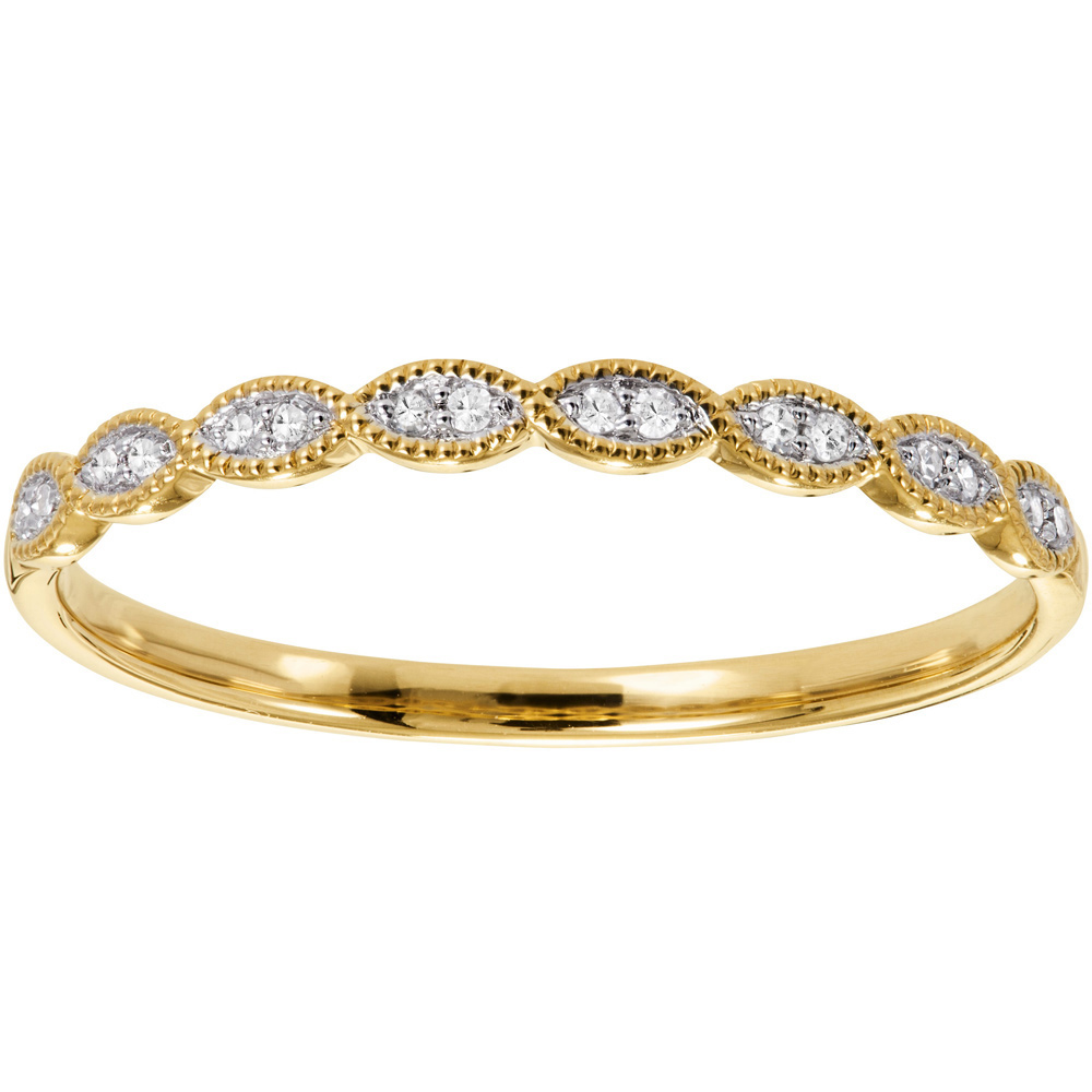 Kultainen timanttisormus 0,05ct vintage