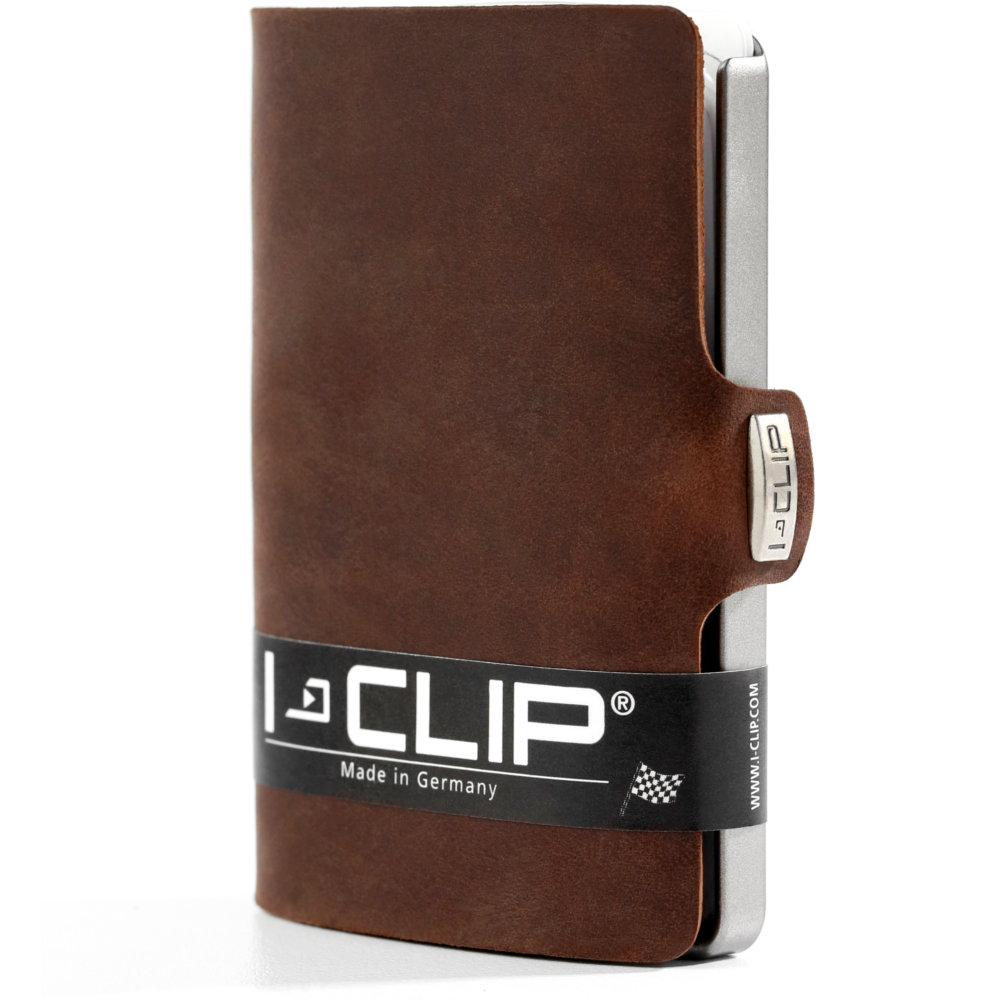 I-Clip korttikotelo Soft touch, Brown