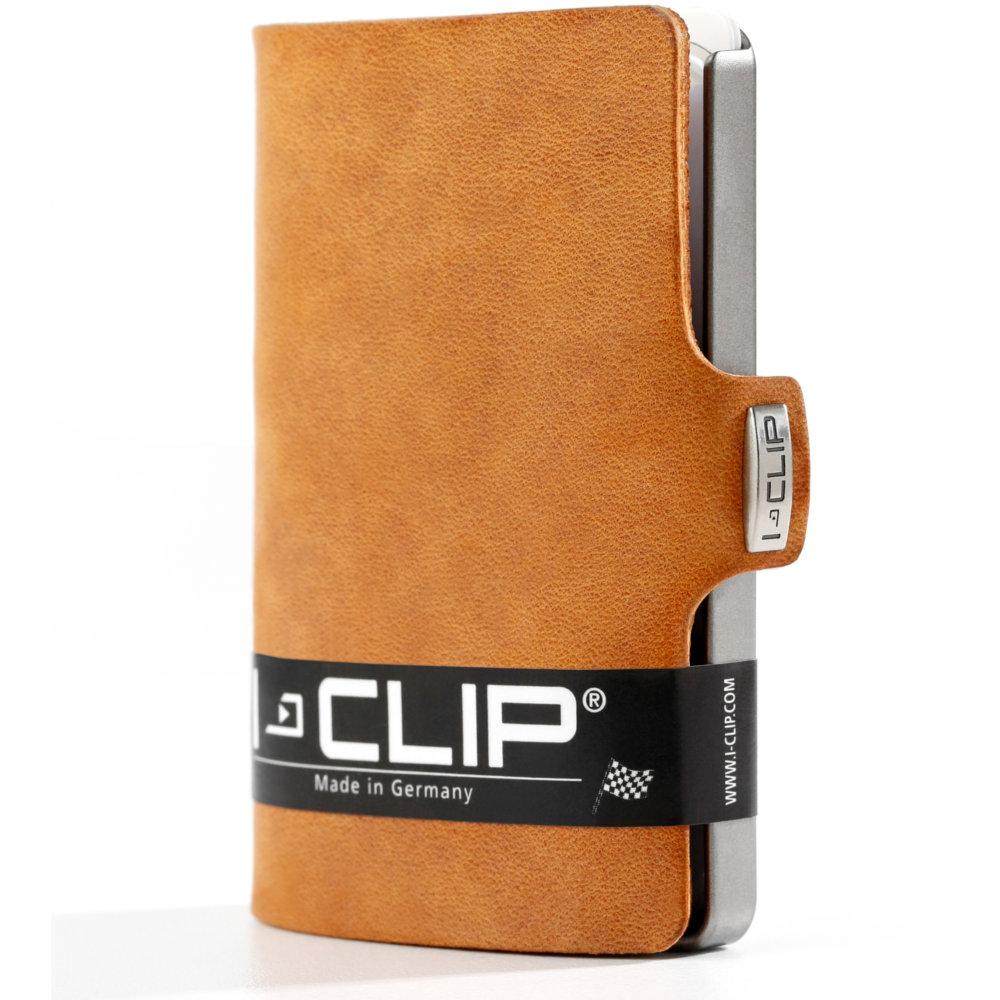 I-Clip korttikotelo Soft touch, Caramel