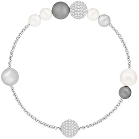 Swarovski Remix Collection Mixed Gray Crystal Pearl rannekoru 5365739