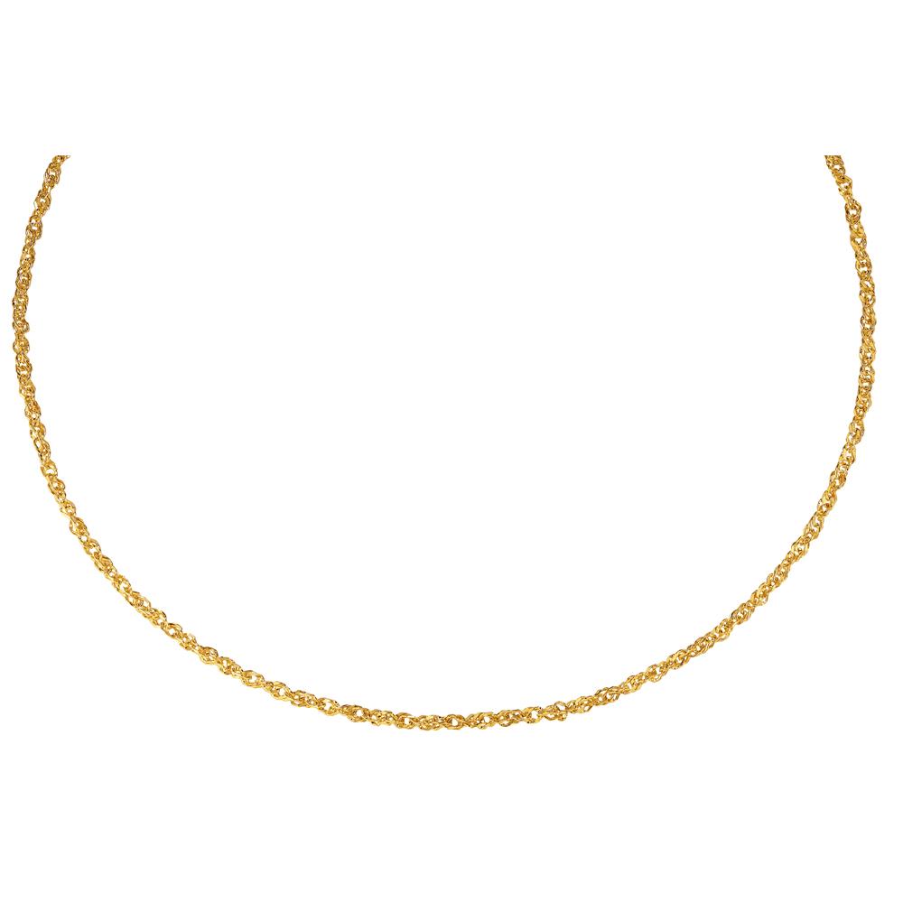 Kultainen kaulaketju, lenkit 45 cm