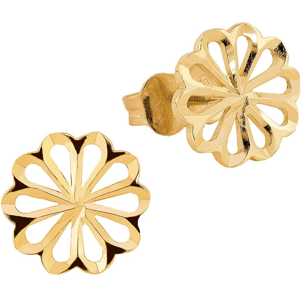 Kultaiset korvakorut, kukka