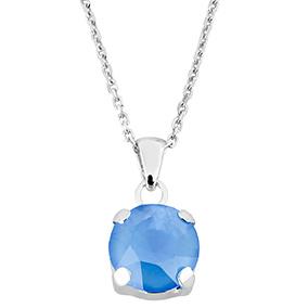 Mood hopeinen riipus, sininen kristalli