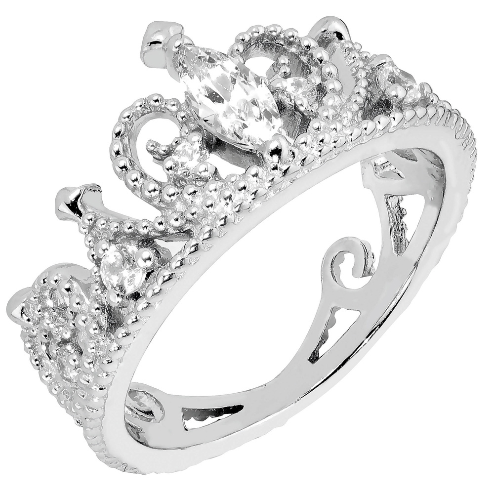 Hopeinen sormus, prinsessakruunu