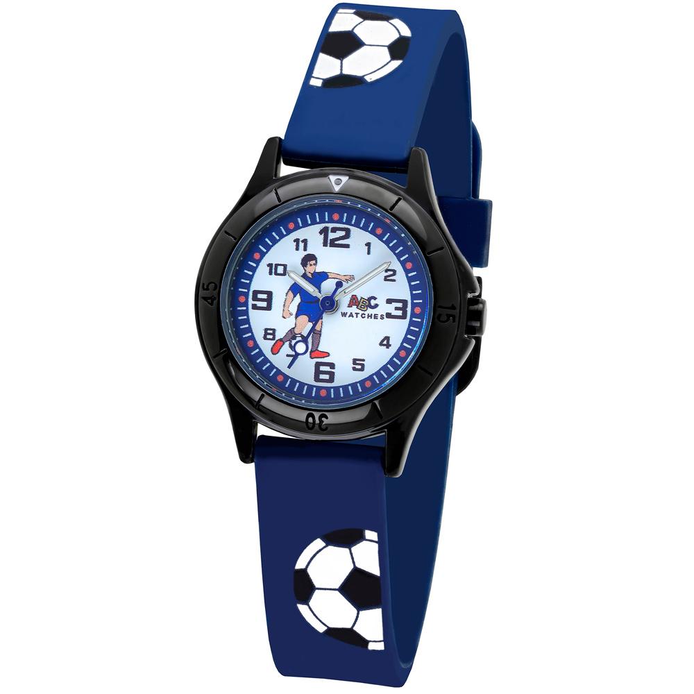 ABC rannekello, jalkapallo, sininen