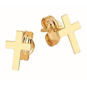 Kultaiset korvakorut, pienet ristit