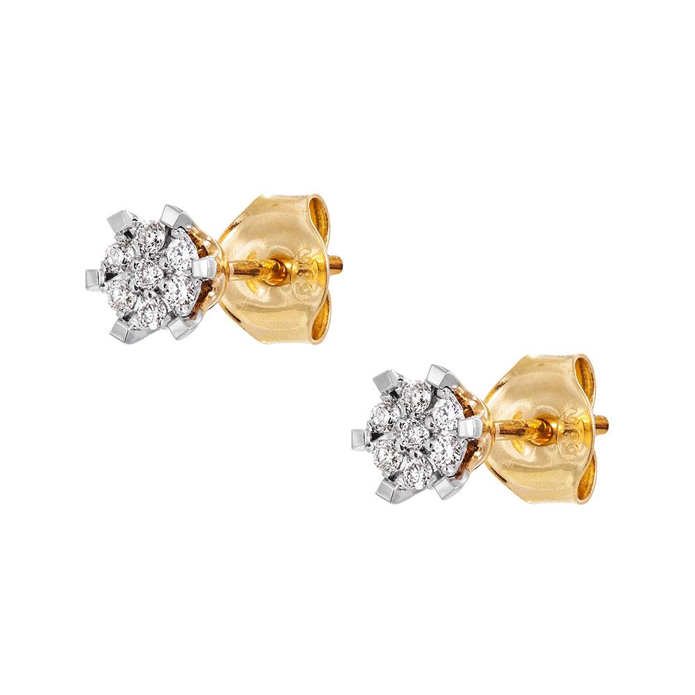 Kultaiset timanttikorvakorut 0,11ct