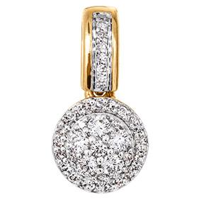 Keltakultainen timanttiriipus 0,12ct