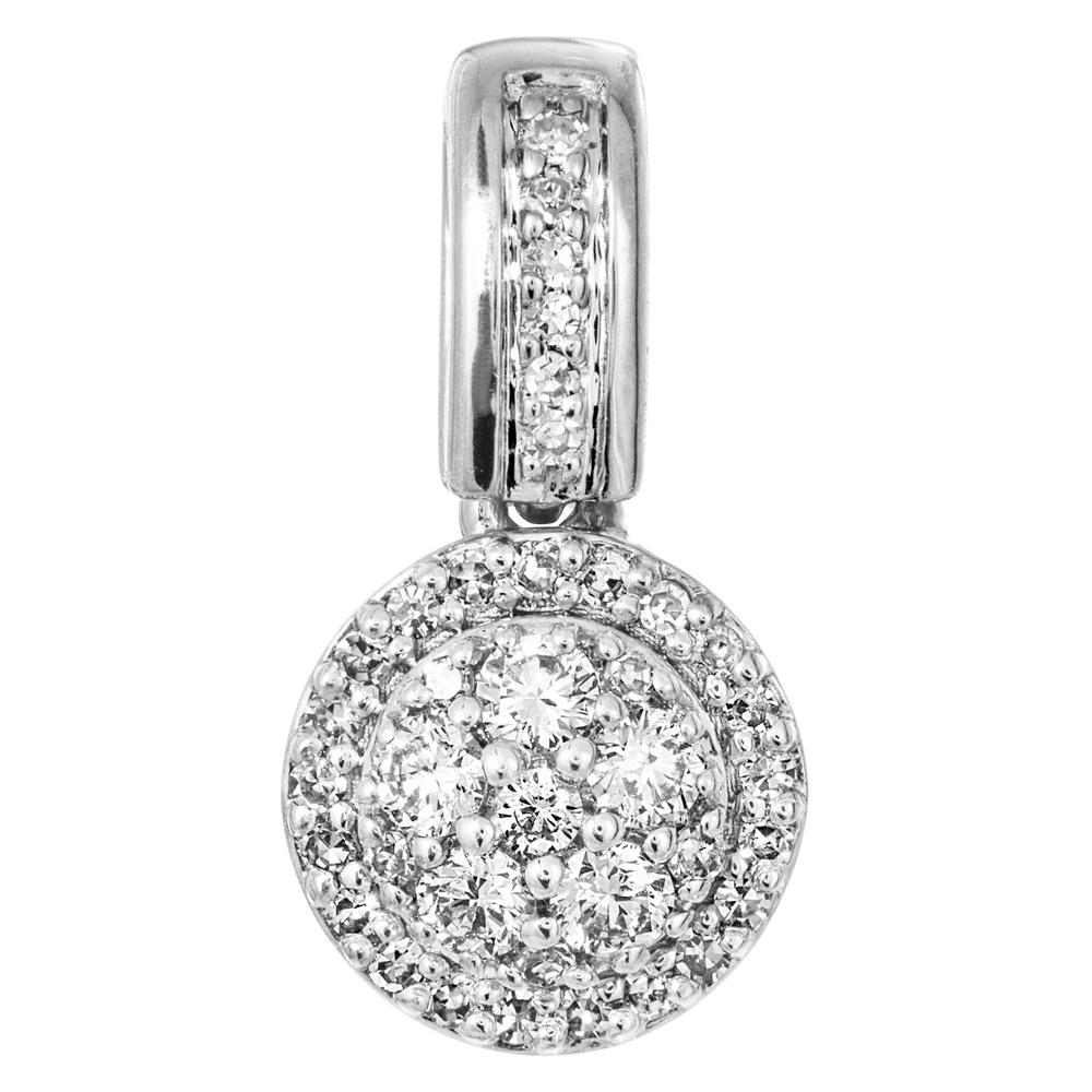 Valkokultainen timanttiriipus 0,12ct
