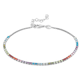 Mood hopeinen rannekoru, rainbow