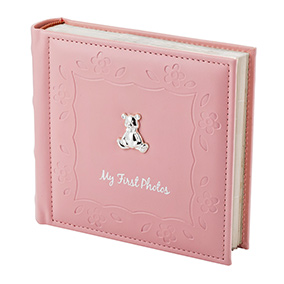 Vauvan valokuva-albumi, vaaleanpunainen