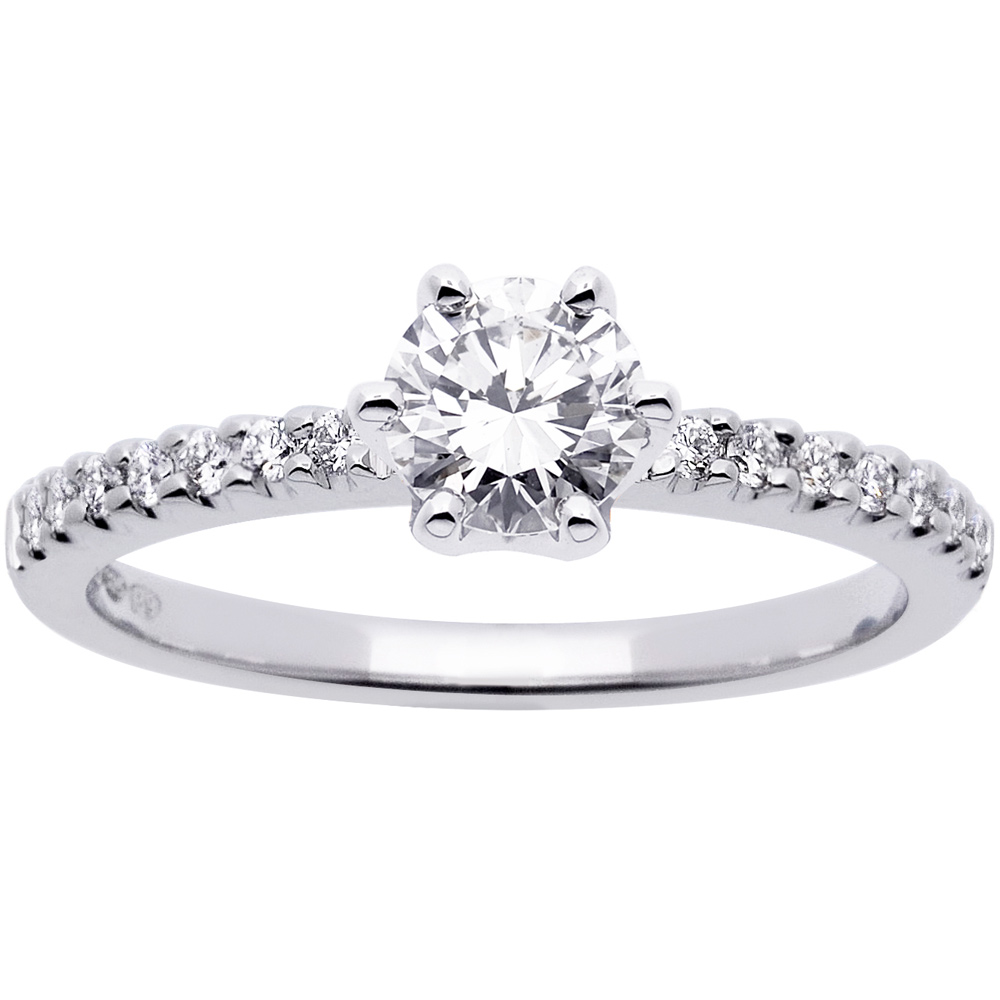 Princess timanttisormus 0,64ct 14K