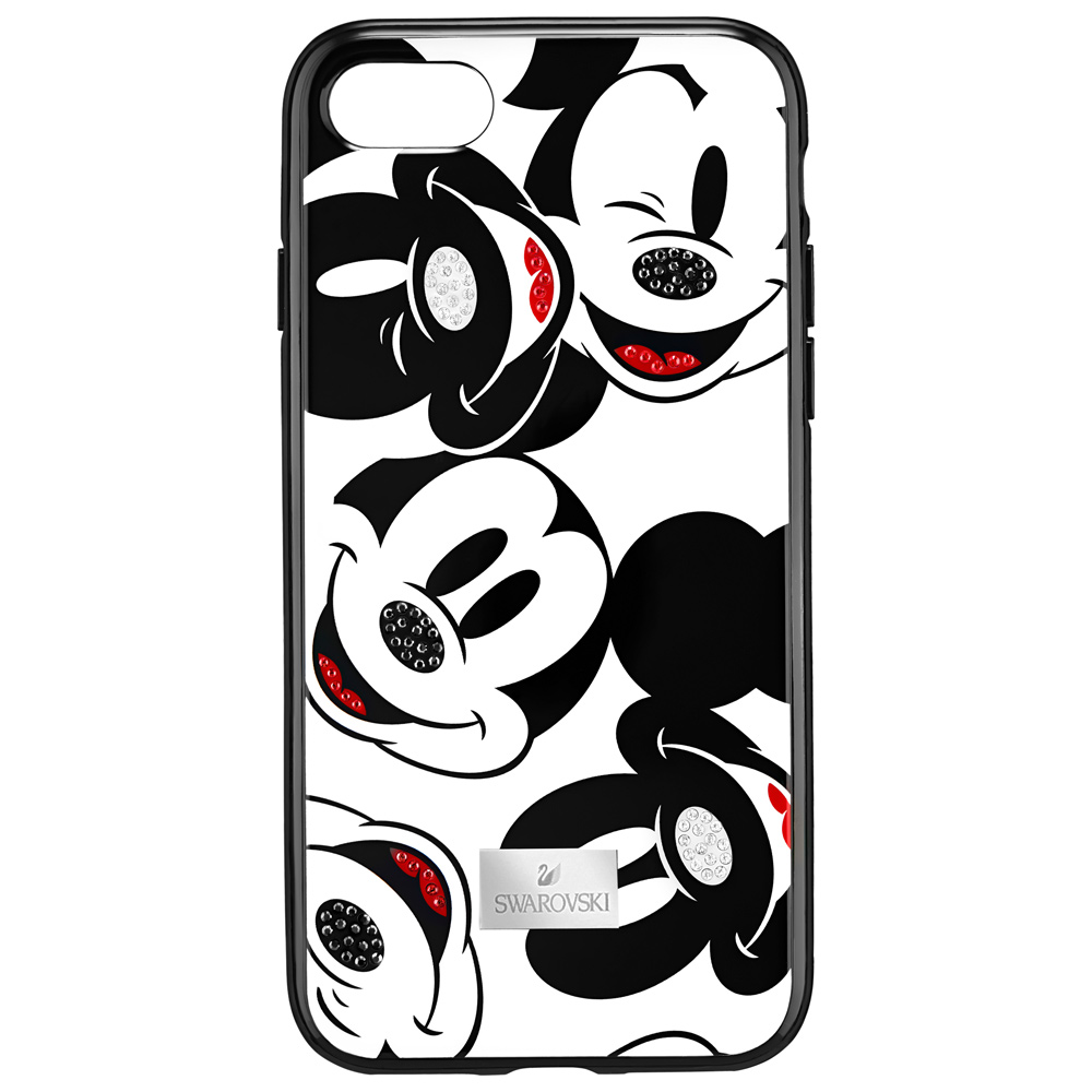 Swarovski Mickey Face Smartphone Case with Intergrated Bumper, iPhone 8 Plus, Black 5435472