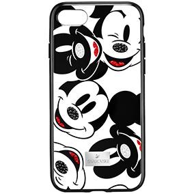 Swarovski Mickey Face Smartphone Case with Intergrated Bumper, iPhone X, Black 5435474