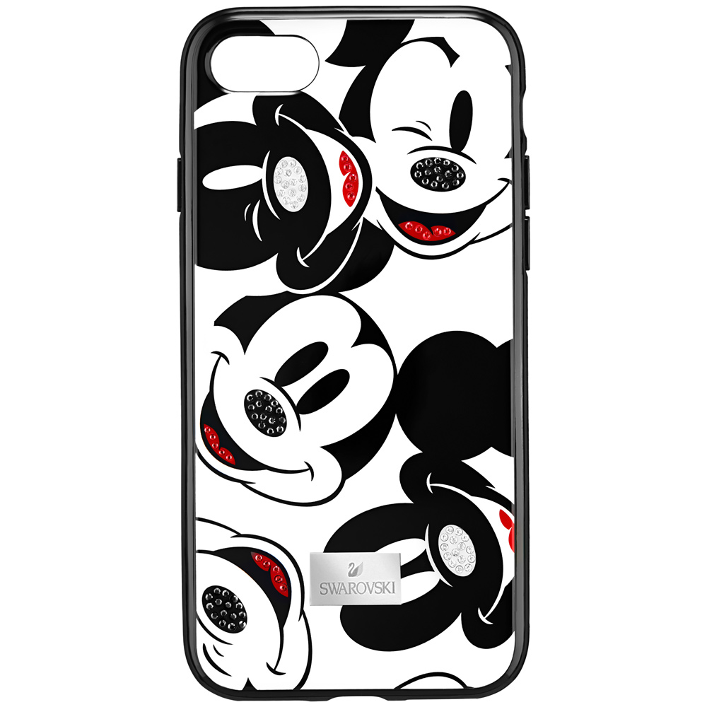 Swarovski Mickey Face Smartphone Case with Intergrated Bumper, iPhone X, Black 5435474