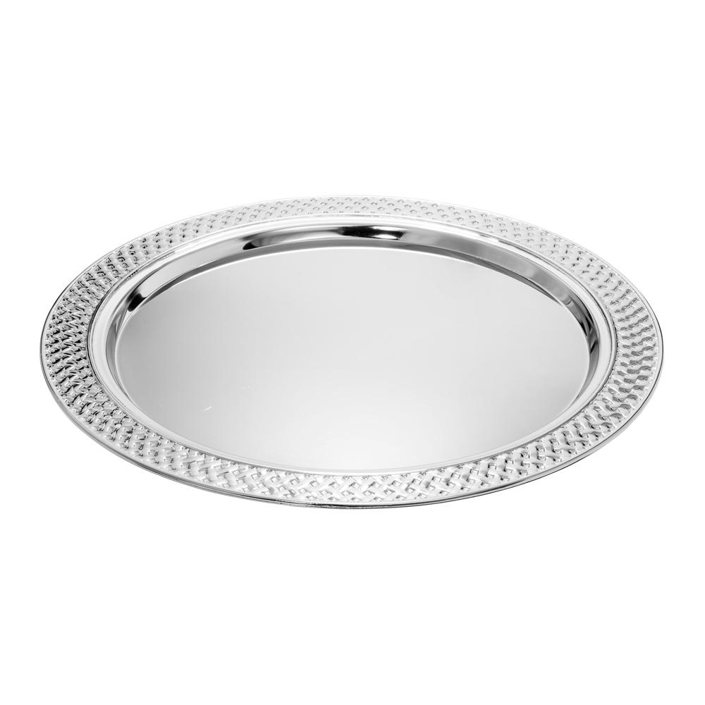 Pyöreä hopeanvärinen tarjotin 31 cm