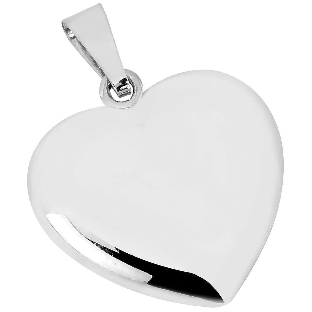 Valkokultainen iso pullea sydänriipus 17 mm