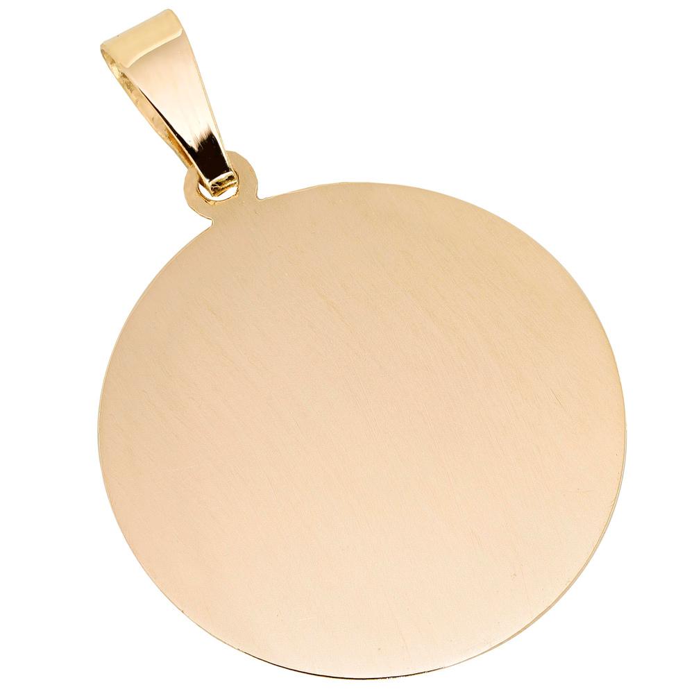 Kultainen pyöreä sileä laattariipus 19 mm