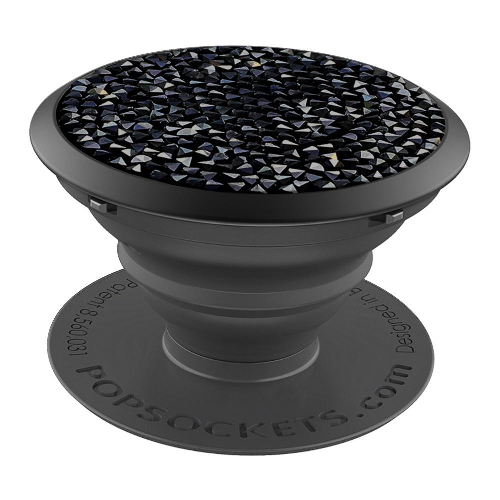 PopSockets Swarovski älypuhelimen pidike Jet Black Crystal