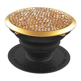 PopSockets Swarovski älypuhelimen pidike Golden Shadow Crystal