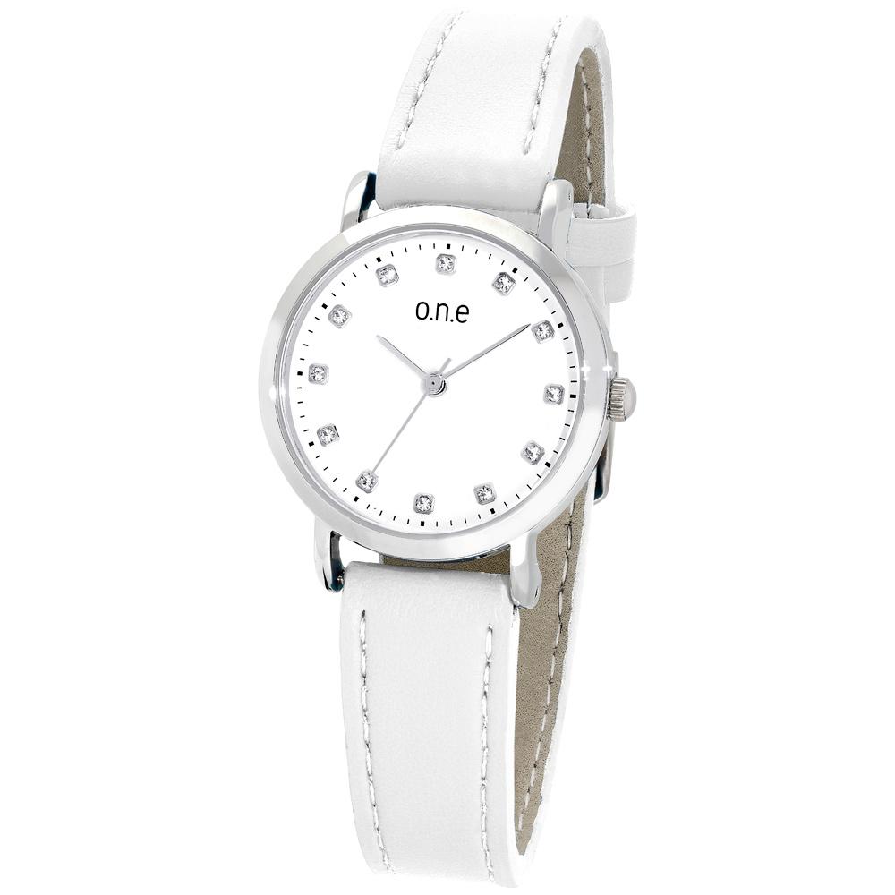 o.n.e rannekello, valkoinen kellotaulu ja ranneke