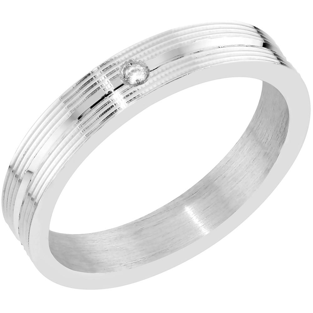 Hopeinen flakkamallinen sormus
