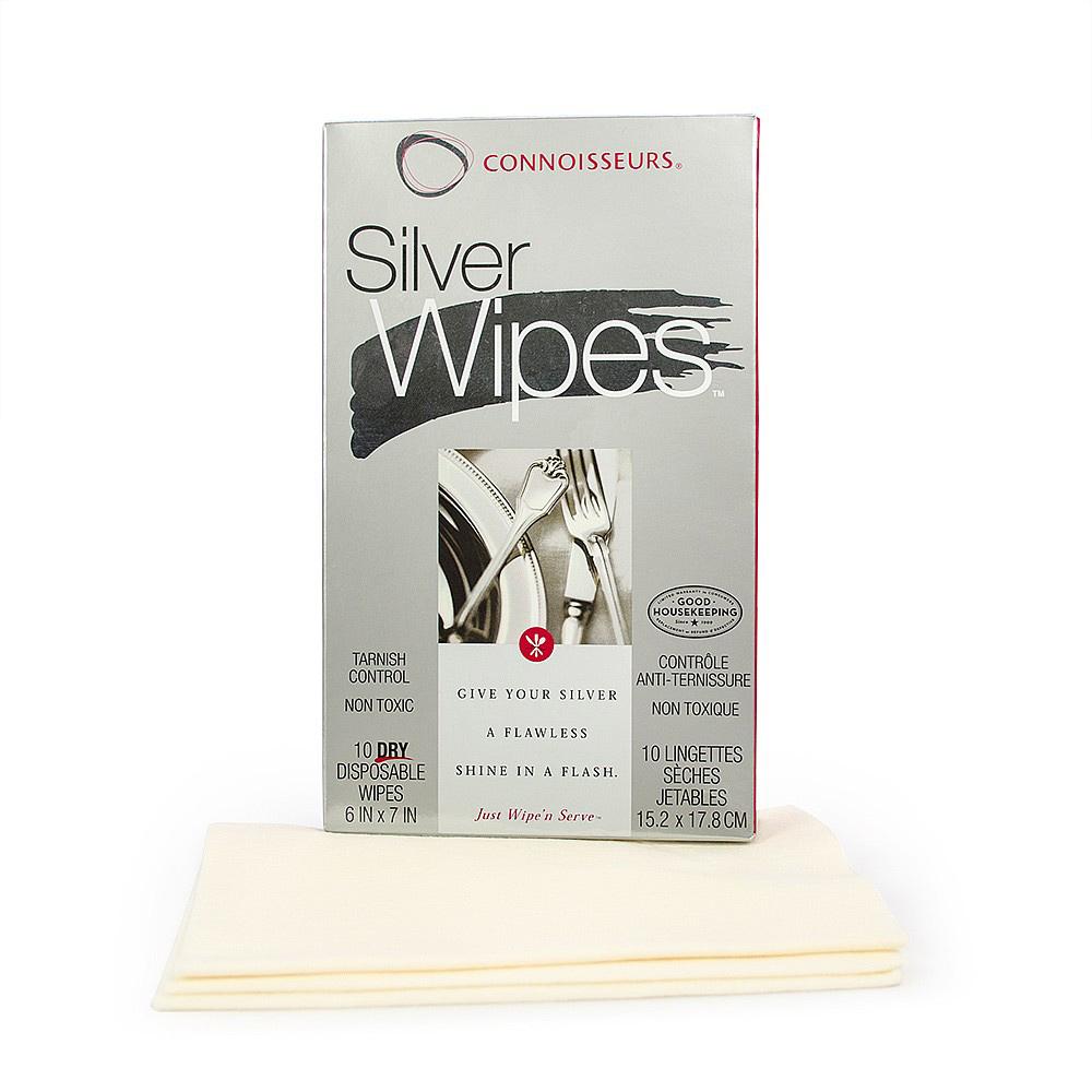 Silver Wipes hopeanpuhdistusliinat 10 kpl
