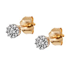 Kultaiset timanttikorvakorut 0,05ct