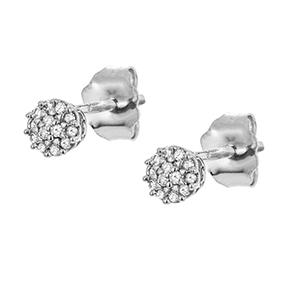 Valkokultaiset timanttikorvakorut 0,05ct