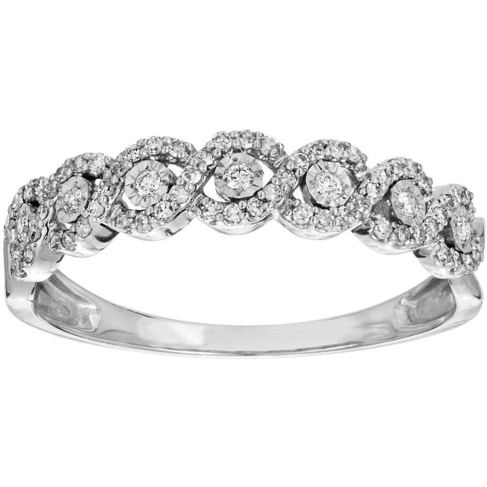 Valkokultainen timanttisormus 0,20ct, letti