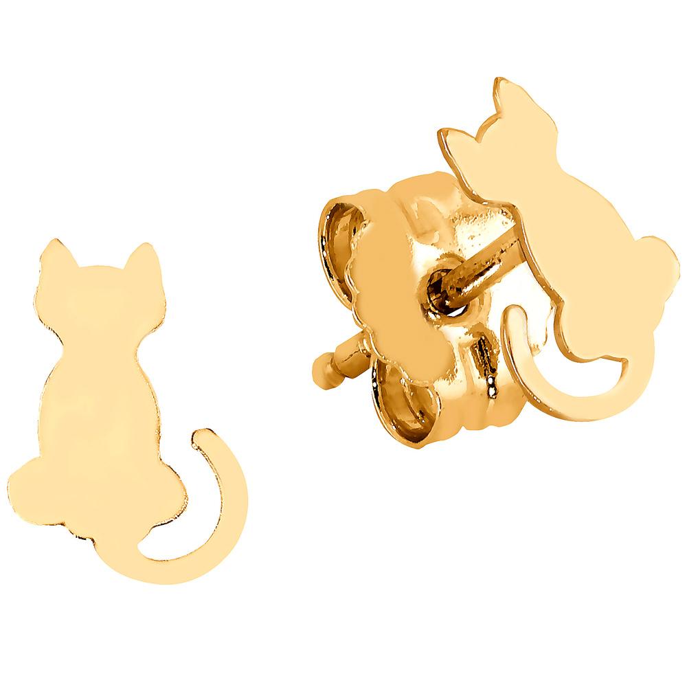 Kultaiset korvakorut, sileät kissat