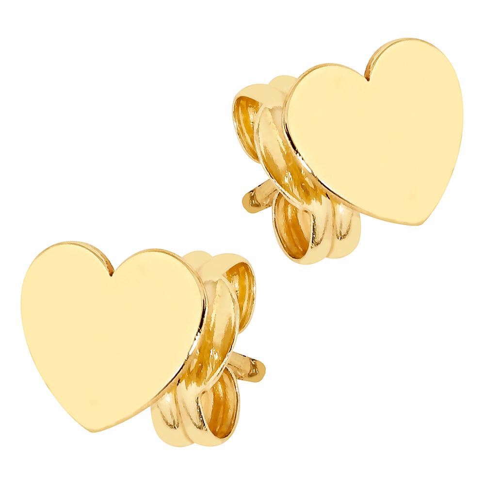 Kultaiset sileäpintaiset sydänkorvakorut